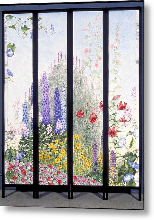 Garden Metal Print featuring the painting Summerscreen by Nancy Ethiel