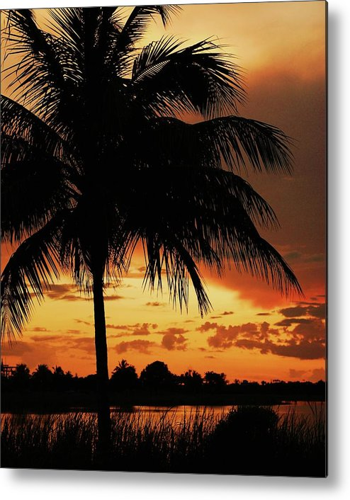 Relaxing Metal Print featuring the photograph Sundown by Roger And Michele Hodgson