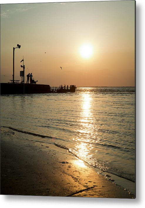 Galveston Metal Print featuring the photograph Sunset Over San Luis Pass by Ray Devlin