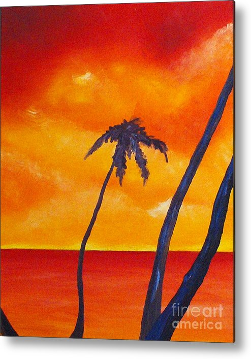 Sunrise Metal Print featuring the painting Surprise Sunrise by Joseph Palotas