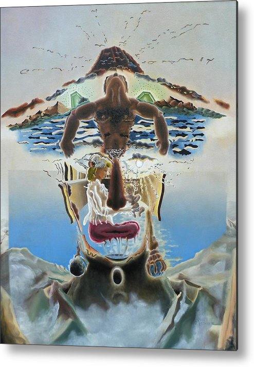Surreal Metal Print featuring the painting Surreal Memories by Dave Martsolf