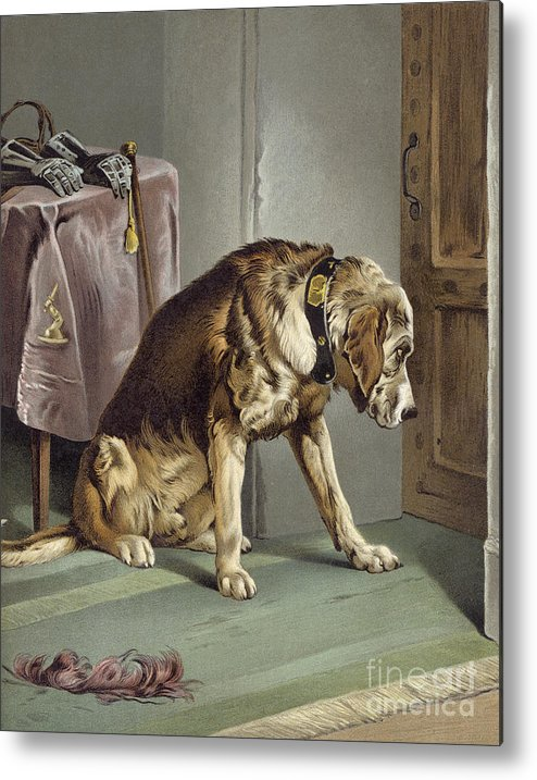 Suspense Metal Print featuring the painting Suspense by Edwin Landseer