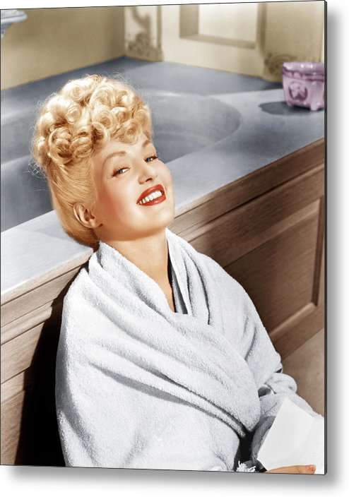 1940s Portraits Metal Print featuring the photograph Sweet Rosie Ogrady, Betty Grable, 1943 by Everett