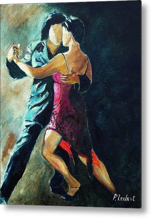 Tango Metal Print featuring the painting Tango by Pol Ledent
