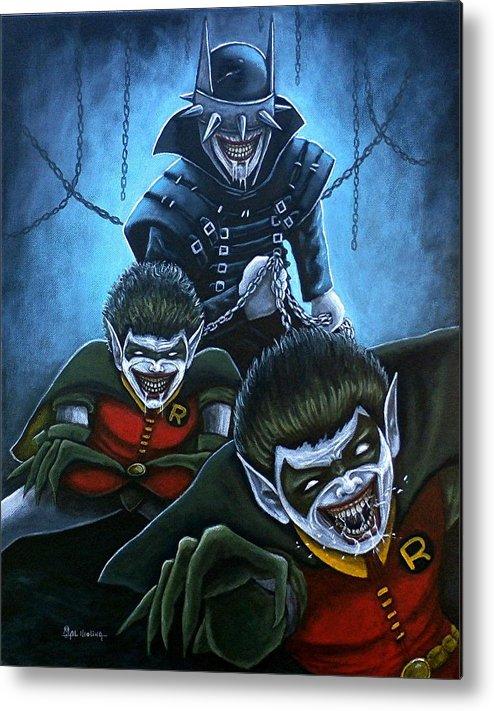 The Batman Who Laughs Metal Print