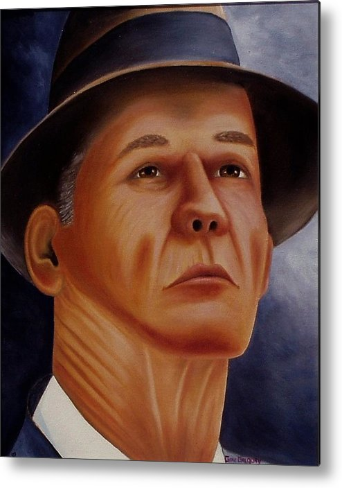 Portrait Metal Print featuring the painting The Coach by Gene Gregory