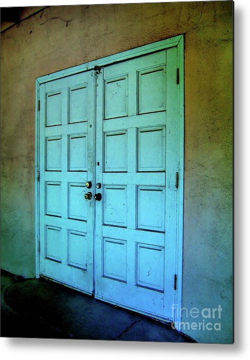 Doors Metal Print featuring the photograph The Door To A Better Place by Amy Delaine