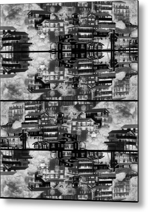 Abstract Metal Print featuring the photograph The Dwellings by Daniel Schubarth