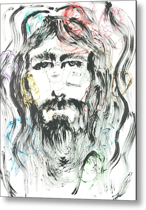 Jesus Metal Print featuring the painting The Emotions Of Jesus by Nadine Rippelmeyer