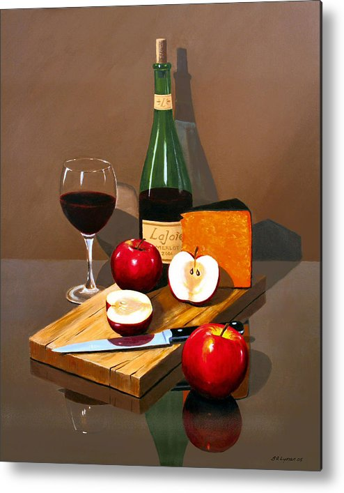 Still Life Metal Print featuring the painting The Good Life by Brooke Lyman