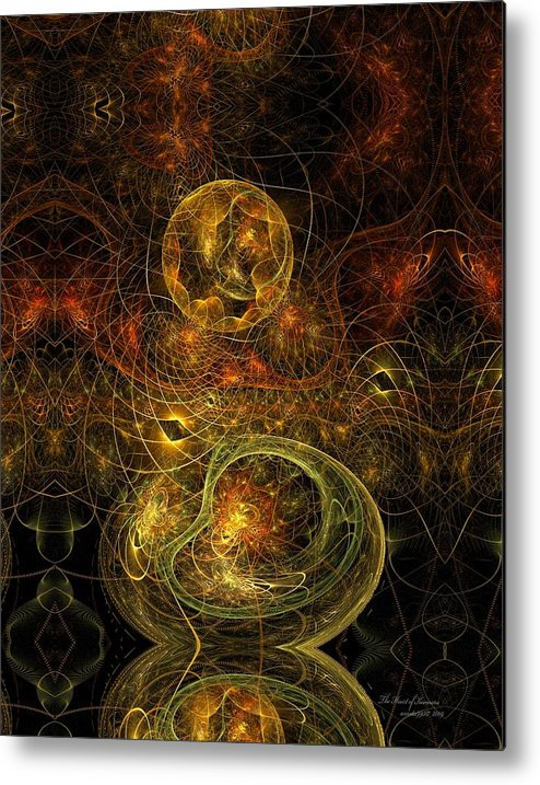 Fractal Metal Print featuring the digital art The Heart Of Keemara by Gayle Odsather