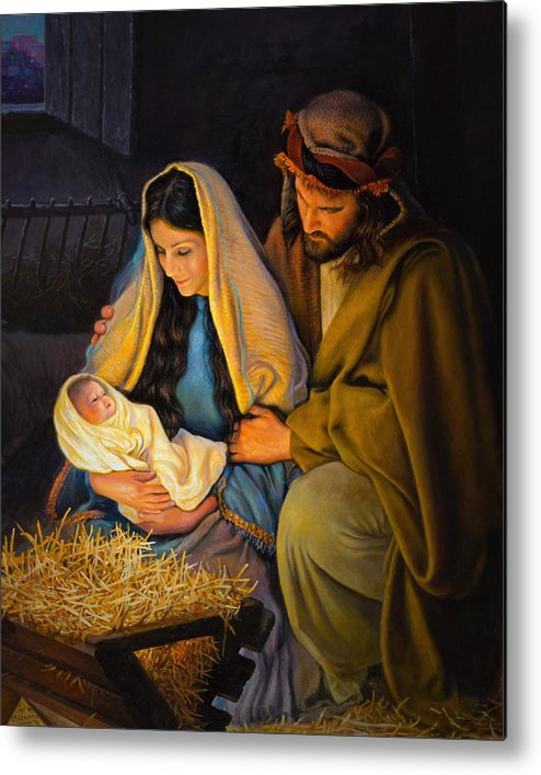 Jesus Metal Print featuring the painting The Holy Family by Greg Olsen