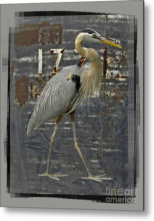 Bird Metal Print featuring the digital art The Sentinel by Chuck Brittenham