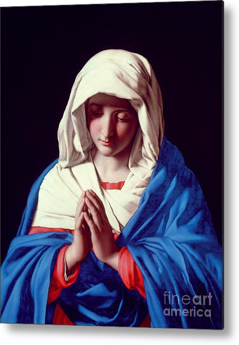 Mary Metal Print featuring the painting The Virgin In Prayer by Il Sassoferrato