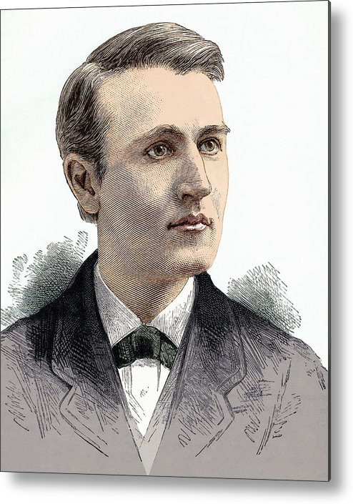 Thomas Alva Edison Metal Print featuring the photograph Thomas Edison, American Inventor by Sheila Terry