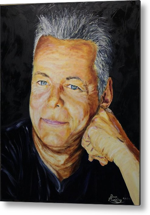Portrait Metal Print featuring the painting Tommy Emmanuel Guitar Virtuoso by Dave Manning