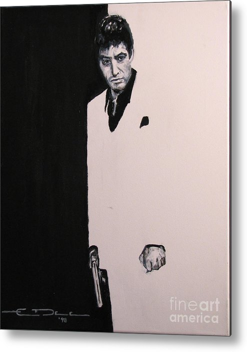 Al Pacino Metal Print featuring the painting Tony Montana - Scarface by Eric Dee