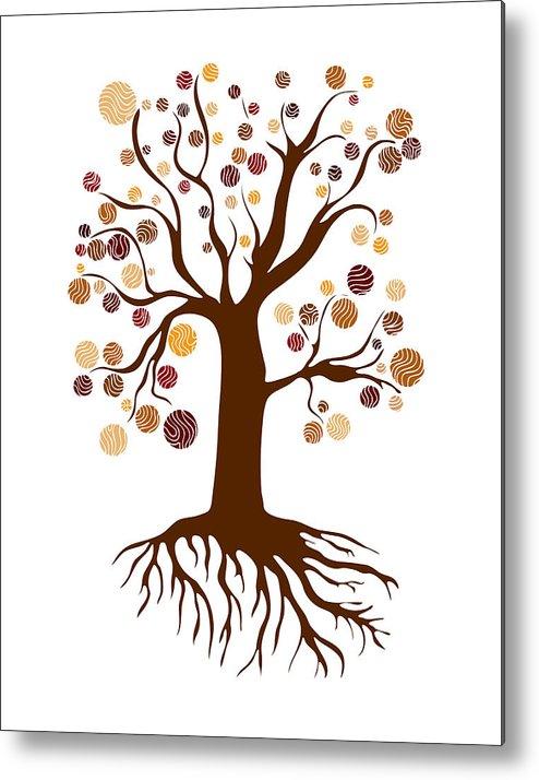 Frank Tschakert Metal Print featuring the painting Tree by Frank Tschakert