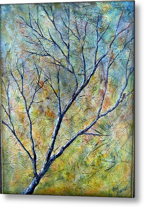 Metal Print featuring the painting Tree Number One by Tami Booher