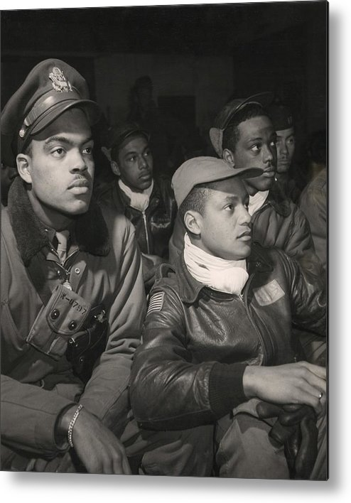 History Metal Print featuring the photograph Tuskegee Airmen Of The 332nd Fighter by Everett