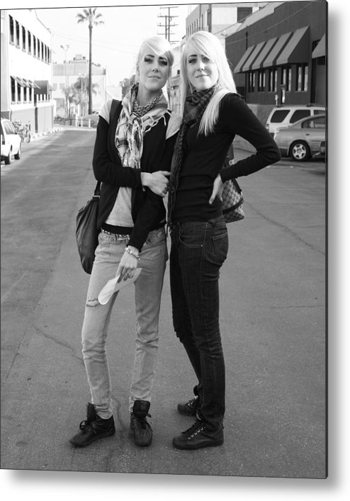 Blonde Girls Metal Print featuring the photograph Twins by Aimee Galicia Torres