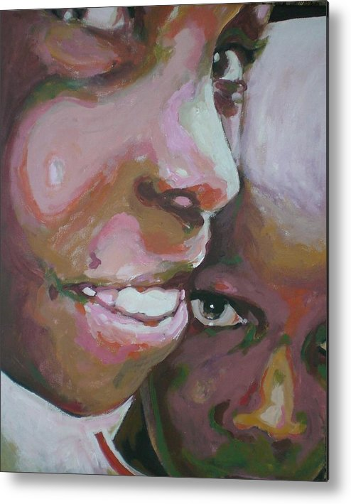 Africa Metal Print featuring the painting Two Boys by Aleksandra Buha