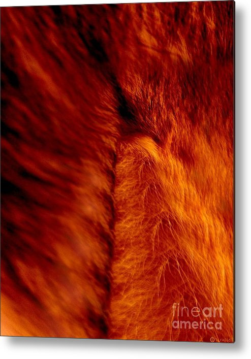 Abstract Metal Print featuring the digital art Untamed Vortex by P Russell