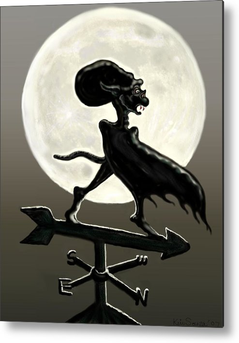 Vampires Metal Print featuring the painting Vampire Moon by Kim Souza