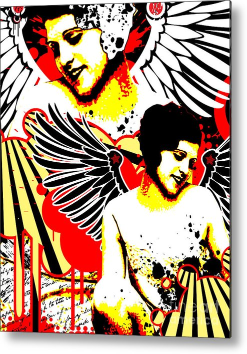Nostalgic Seduction Metal Print featuring the digital art Vexed Angel by Chris Andruskiewicz