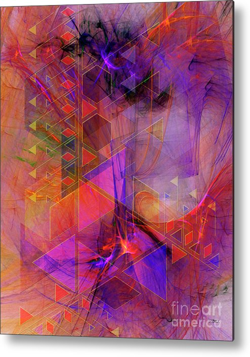 Vibrant Echoes Metal Print featuring the digital art Vibrant Echoes by John Beck