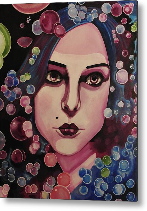 Portrait Metal Print featuring the painting Violet by Kimberly Gifford