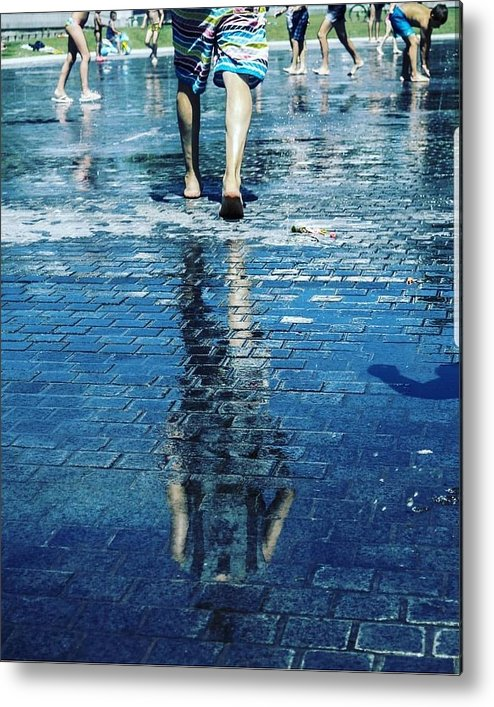Man Metal Print featuring the photograph Walking On The Water by Nerea Berdonces Albareda