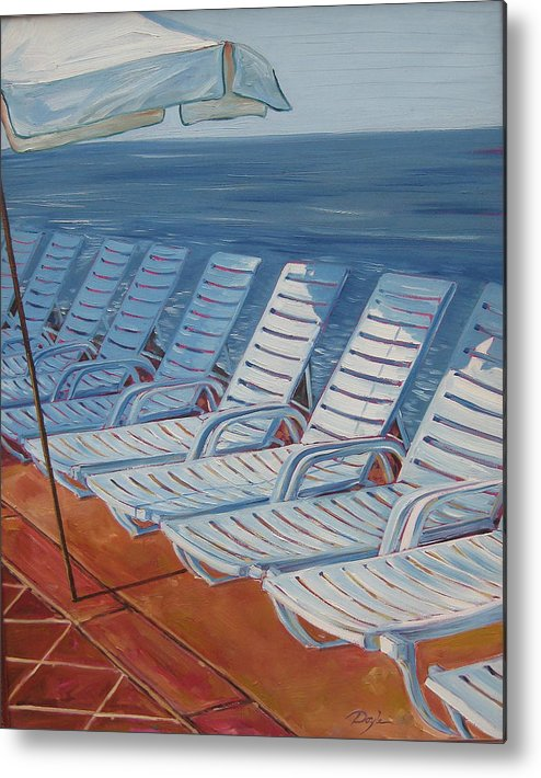 Ocean Metal Print featuring the painting Wednesday Afternoon by Karen Doyle