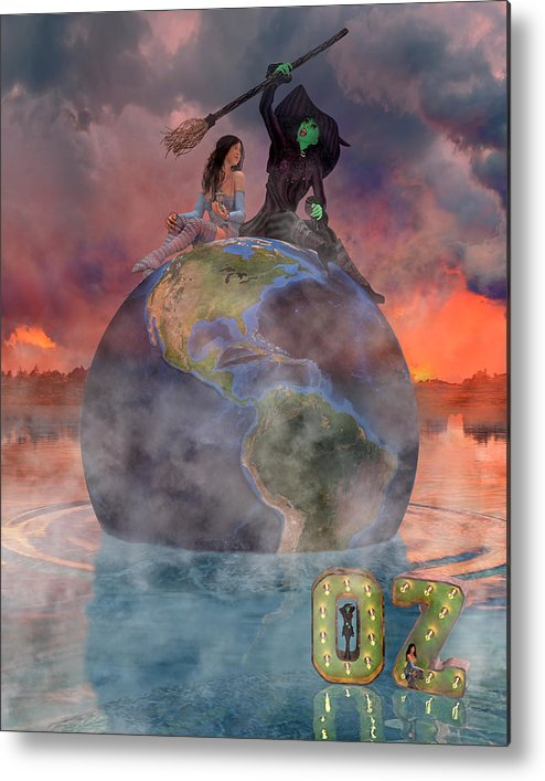 Render Metal Print featuring the digital art Wickedful Oz by Betsy Knapp