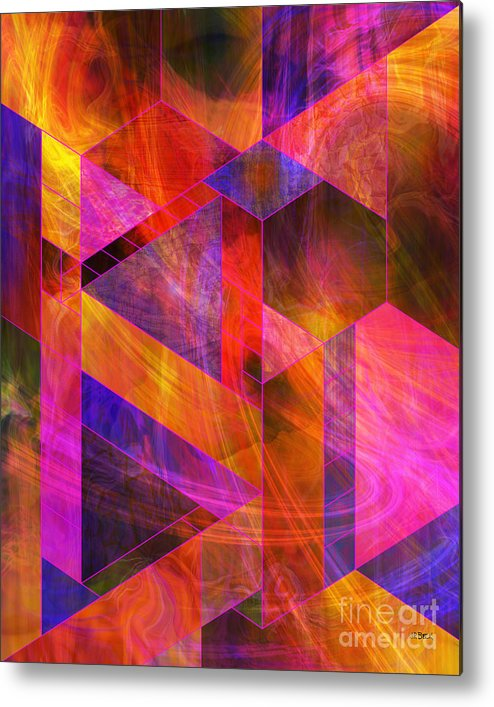 Wild Fire Metal Print featuring the digital art Wild Fire by John Beck