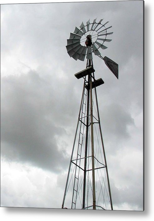 Windmill Metal Print featuring the photograph Windmill by Margaret Fortunato