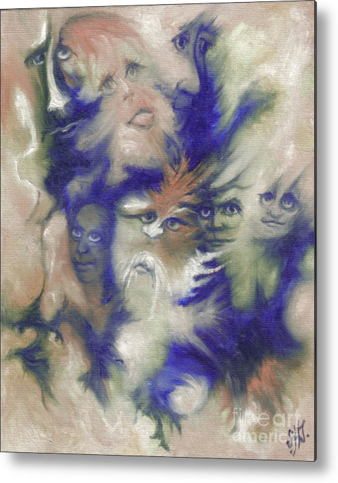 Mystical Metal Print featuring the painting Wizard's Dream by Stephanie H Johnson