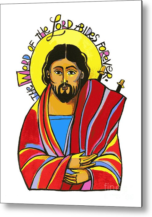 Word Of The Lord Metal Print featuring the painting Word Of The Lord - Mmwol by Br Mickey McGrath OSFS