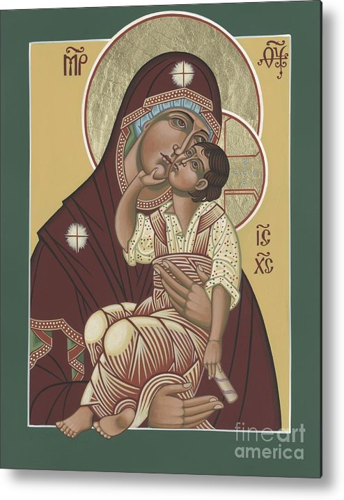 Yakhrom Icon Of The Mother Of God Metal Print featuring the painting Yakhrom Icon Of The Mother Of God 258 by William Hart McNichols