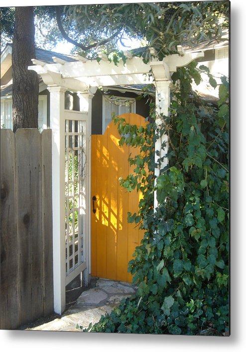 Yellow Doors Metal Print featuring the photograph Yellow Door by Dorota Nowak