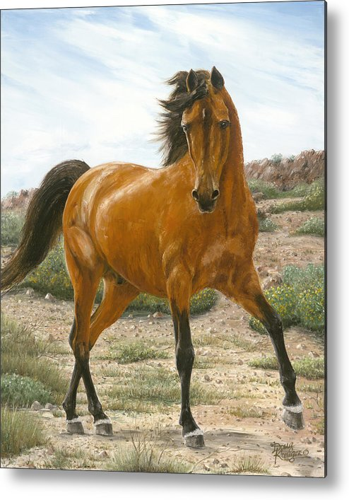 Horse Metal Print featuring the painting Young And Restless by Doug Kreuger