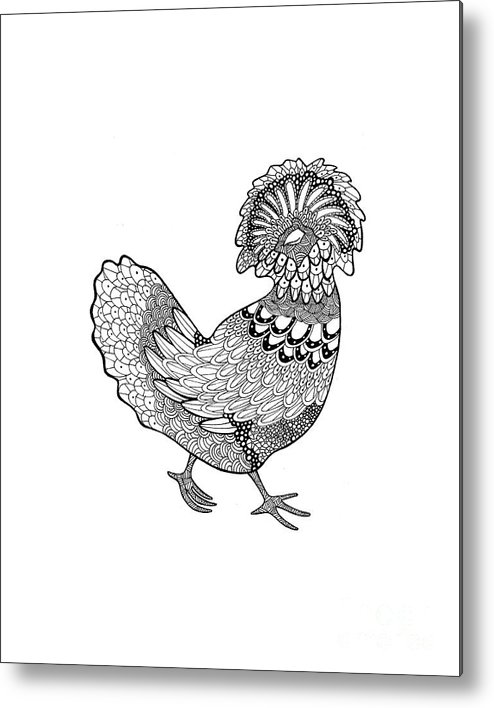 Polish From Difficult Chickens Coloring Book Metal Print