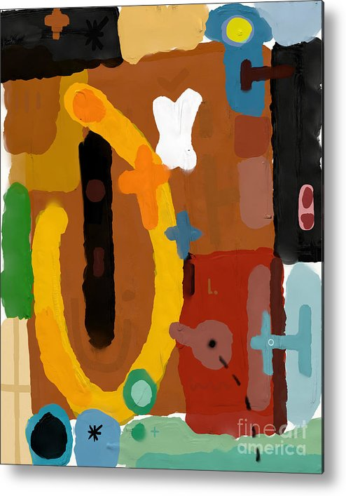 Collage Metal Print featuring the digital art Abstract, Which Consists Of A Plurality by Dmitriip
