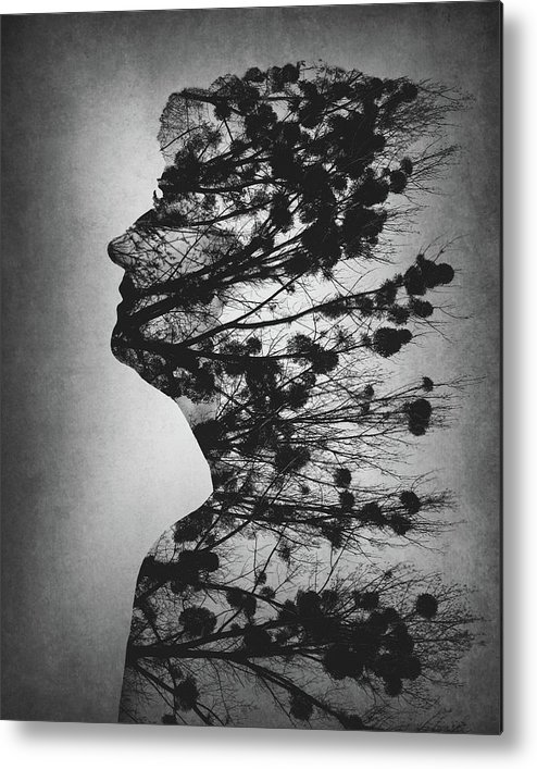 Double Exposure Metal Print featuring the photograph Essence Of Life by Dusan Macko