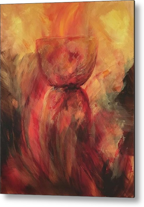 Guam Metal Print featuring the painting Fire Earth Latte Stone by Michelle Pier