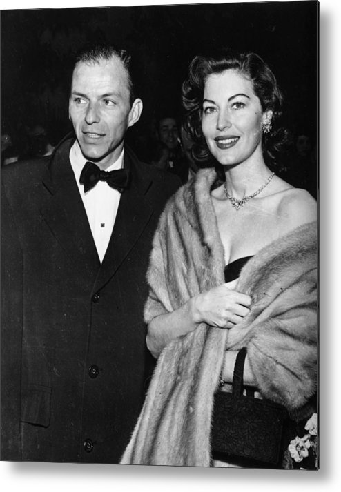 Singer Metal Print featuring the photograph Frank And Ava by Keystone