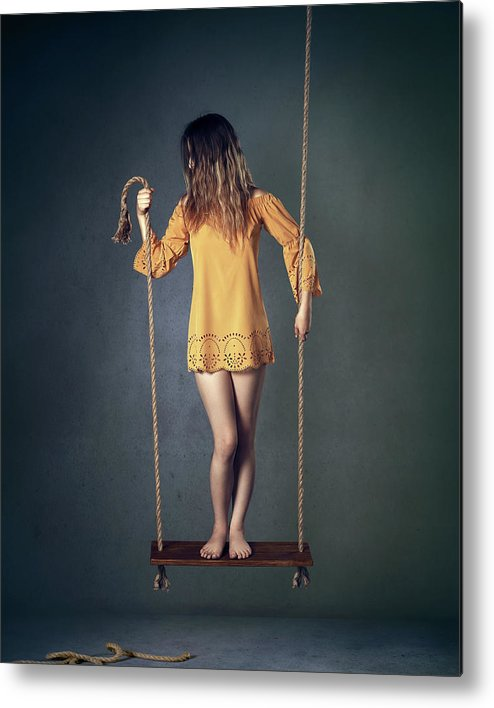 Woman Metal Print featuring the photograph Hold On Tight by Johan Swanepoel