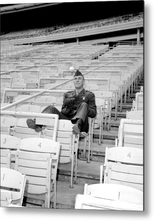 American League Baseball Metal Print featuring the photograph Tug Mcgraw, A Marine Reservist Now by New York Daily News Archive