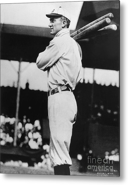 American League Baseball Metal Print featuring the photograph Ty Cobb by National Baseball Hall Of Fame Library