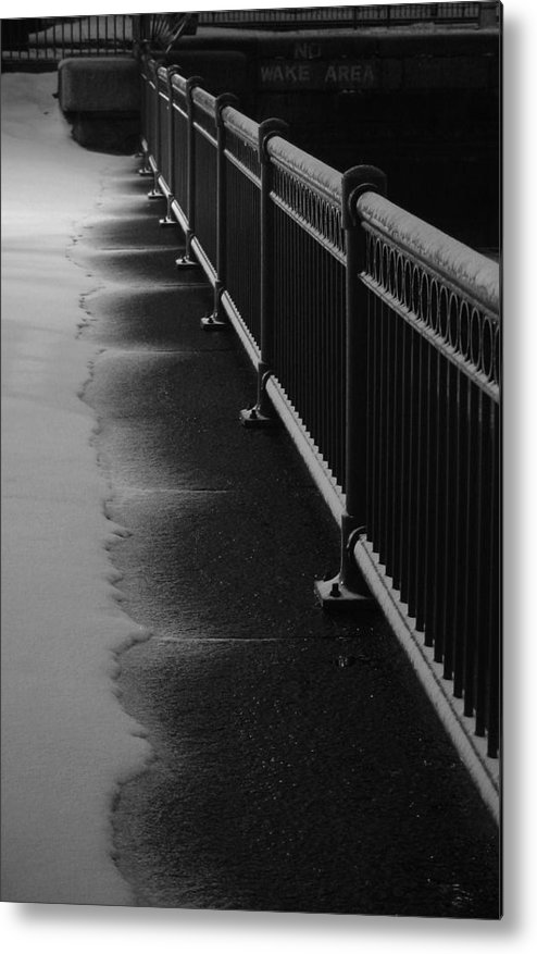Winter Metal Print featuring the photograph Snowy Rail by Eric Workman